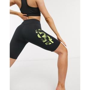 エイソス レディース カジュアルパンツ ボトムス ASOS 4505 yoga graphic logo legging short Black astyshop