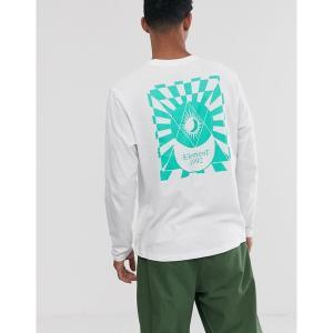 エレメント メンズ Tシャツ トップス Element Ambience long sleeve top in white White astyshop