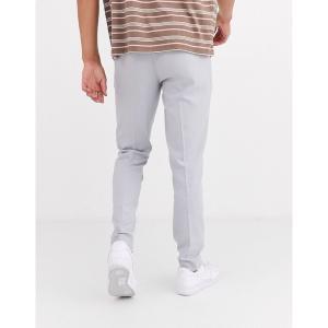 エイソス メンズ カジュアル ボトムス ASOS DESIGN skinny smart pants in ice gray Gray astyshop