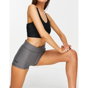 アンダーアーマー レディース カジュアルパンツ ボトムス Under Armour Training HeatGear booty shorts in gray Grey astyshop