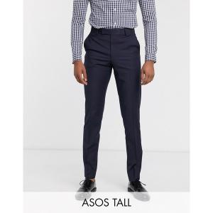 エイソス メンズ カジュアル ボトムス ASOS DESIGN Tall slim smart pants in navy Navy astyshop