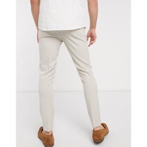 エイソス メンズ カジュアル ボトムス ASOS DESIGN super skinny smart pants in ice gray Ice gray astyshop