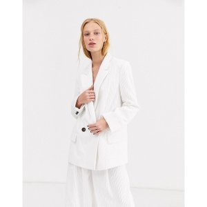 エイソス レディース ジャケット・ブルゾン アウター ASOS DESIGN cream cord suit blazer Cream astyshop