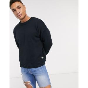 リバーアイランド メンズ ニット、セーター アウター River Island long sleeve oversized sweater in navy Navy astyshop