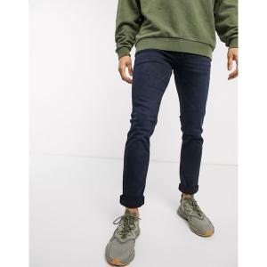 ジャック アンド ジョーンズ メンズ デニム ボトムス Jack & Jones slim tapered fit super stretch jeans in deep blue Black blue|astyshop