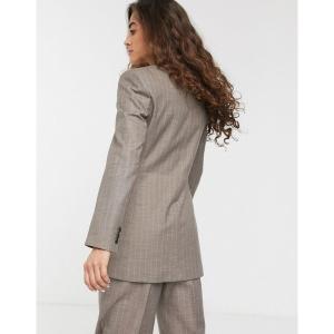 エイソス レディース ジャケット・ブルゾン アウター ASOS DESIGN wrap suit blazer in gray pinstripe Gray pinstripe astyshop