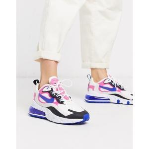 ナイキ レディース スニーカー シューズ Nike Air Max 270 React white pink and black sneakers White/blue astyshop