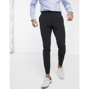 エイソス メンズ カジュアル ボトムス ASOS DESIGN super skinny smart pants in black Black astyshop