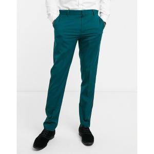 エイソス メンズ カジュアル ボトムス ASOS DESIGN skinny tuxedo suit pants in forest green Green astyshop