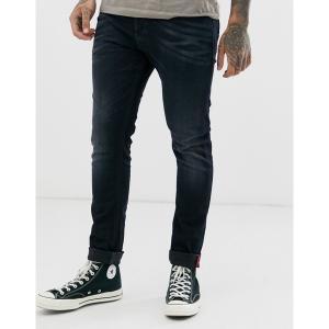 ディーゼル メンズ デニム ボトムス Diesel Tepphar-X slim carrot fit jeans in 0679R dark wash Blue|astyshop