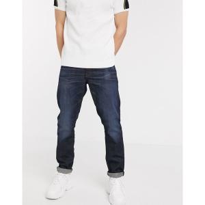 ジースター メンズ デニム ボトムス G-Star 3301 straight tapered fit jeans in dark wash Dark wash|astyshop
