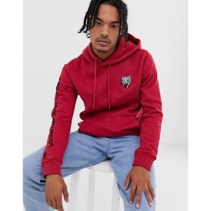 ボルコム メンズ パーカー・スウェットシャツ アウター Volcom shoots pull over hoodie Burgandy|astyshop