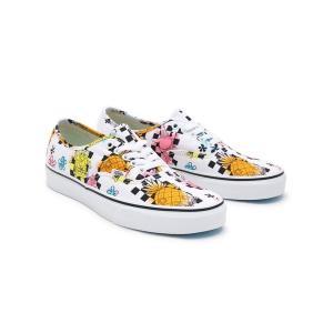 バンズ メンズ スニーカー シューズ Vans x Spongebob Authentic Airbrush sneakers in white white|astyshop