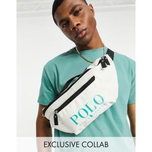 ラルフローレン メンズ ボディバッグ・ウエストポーチ バッグ Polo Ralph Lauren x ASOS exclusive collab fanny pack in cream with green logo Cream|astyshop