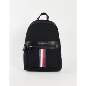 トミー ヒルフィガー メンズ バックパック・リュックサック バッグ Tommy Hilfiger icon backpack Black|astyshop