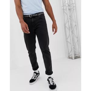 ウィークデイ メンズ デニム ボトムス Weekday Sunday relaxed tapered jeans tuned black Black|astyshop