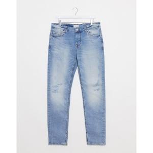 オンリーアンドサンズ メンズ デニム ボトムス Only & Sons LOOM slim jeans in light blue Light blue denim|astyshop
