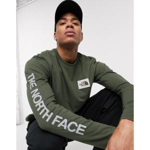ノースフェイス メンズ Tシャツ トップス The North Face Westbrae long sleeve t-shirt in green Green astyshop