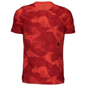 アンダーアーマー Tシャツ メンズ トップス Rush Fitted TShirt Martion Red/Black astyshop