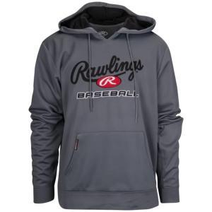 ローリングス パーカー・スウェットシャツ メンズ アウター Branded Baseball Hoodie Grey|astyshop