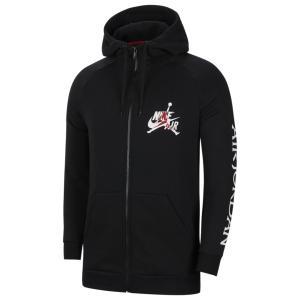 ジョーダン パーカー・スウェットシャツ メンズ アウター Jumpman Classic FullZip Hoodie Black/Gym Red/White|astyshop