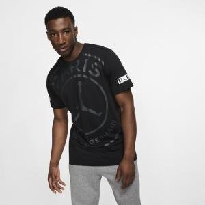 ジョーダン Tシャツ メンズ トップス PSG Jumpman Logo TShirt Soccer International Clubs   Paris Saint Germain   Black astyshop