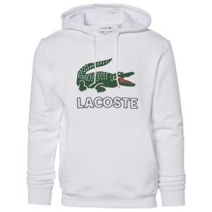 ラコステ パーカー・スウェットシャツ メンズ アウター Graphic Croc Fleece Hoodie White|astyshop