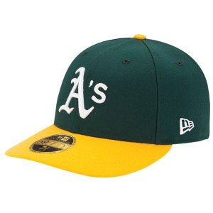 ニューエラ 帽子 メンズ アクセサリー MLB 59Fifty Authentic LP Cap MLB | Oakland Athletics | Green/Yellow | Home|astyshop
