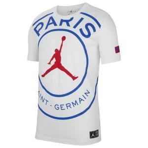 ジョーダン Tシャツ メンズ トップス PSG Jumpman Logo TShirt Soccer International Clubs   Paris Saint Germain   White/Game Royal/University Red astyshop