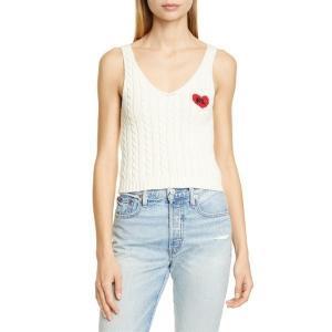 【当日出荷】 ラルフローレン レディース Polo Ralph Lauren Heart Detail Cotton Cable Tank Cream 【サイズ M】 astyshop