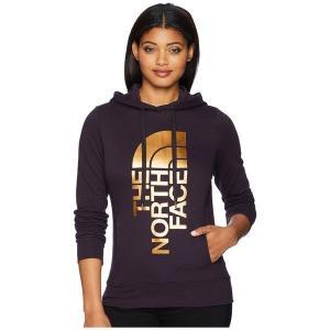 【当日出荷】 ノースフェイス レディース Trivert Pullover Hoodie Galaxy Purple/Gold Foil 【サイズ XS】|astyshop