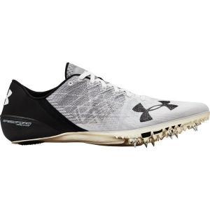 【当日出荷】 アンダーアーマー メンズ 陸上 Under Armour Speedform Sprint 2 Track and Field Shoes White/Black 【サイズ 26.5cm】|astyshop