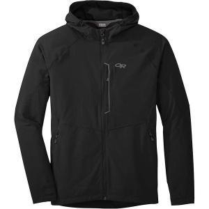 【当日出荷】 アウトドアリサーチ メンズ Outdoor Research Men's Ferrosi Hooded Jacket Black 【サイズ XL】|astyshop