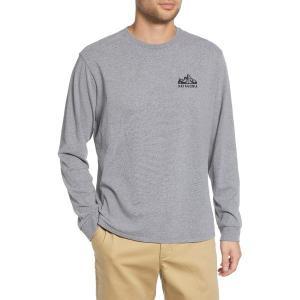 【当日出荷】 パタゴニア メンズ Fitz Roy Scope Long Sleeve Responsibili-Tee T-Shirt Gravel Heather 【サイズ XXL】|astyshop