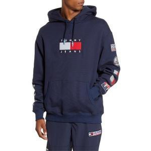 【当日出荷】 トミーヒルフィガー メンズ TOMMY JEANS TJM Sport Tech Logo Hooded Sweatshirt Navy Blazer 【サイズ M】|astyshop