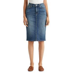 【当日出荷】 ラルフローレン レディース Denim Skirt Sunset Indigo 【サイズ 4】 astyshop
