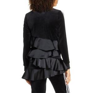 【当日出荷】 アディダスオリジナルス レディース adidas Originals Ruffle Track Jacket Black  【サイズ L】|astyshop