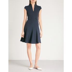 【当日出荷】 カレンミレン レディース buttoned crepe dress NAVY  【サイズ UK8】|astyshop