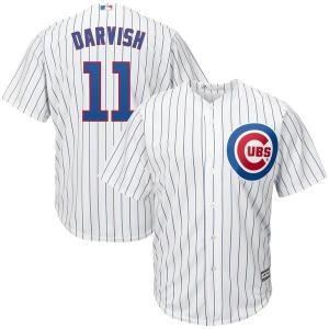 【当日出荷】 マジェスティック メンズ Yu Darvish Chicago Cubs Majestic Official Cool Base Player Jersey White/Royal 【サイズ 2XL】 astyshop