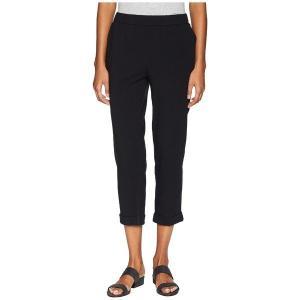 【当日出荷】 エイリーンフィッシャー レディース Eileen Fisher Organic Cotton Stretch Jersey Slim Cropped Pants Black 【サイズ LG】|astyshop
