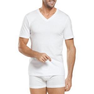 【当日出荷】 ジョッキー メンズ Big Man Classic Cotton V-Neck T-Shirts 2-Pack White 【サイズ XXXL】|astyshop