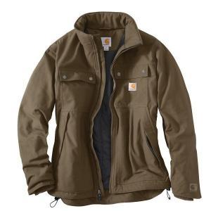 【当日出荷】 カーハート メンズ Carhartt Men's Quick Duck Jefferson Traditional Jacket Brown 【サイズ M】|astyshop