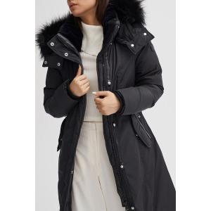 【当日出荷】 ノイズ レディース Kristel Faux Fur Hooded Parka BLACK 【サイズ XS】|astyshop
