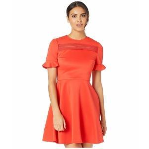 【当日出荷】 テッドベーカー レディース Calizee Lace Insert Skater Dress Red 【サイズ 2_(US_6)】 astyshop
