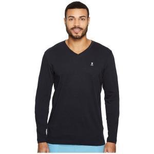 【当日出荷】 サイコバニー メンズ V-Neck Long Sleeve T-Shirt Navy 【サイズ M】|astyshop