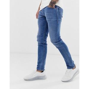 【当日出荷】 ディーゼル メンズ Diesel Thommer stretch slim fit jeans in 083AX light wash Blue  【サイズ W36-L34】|astyshop