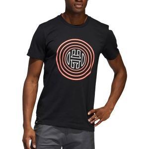 【当日出荷】 アディダス メンズ adidas Men's Harden Vol 4 Logo Basketball T-Shirt BlackScarlet 【サイズ 2XL】|astyshop