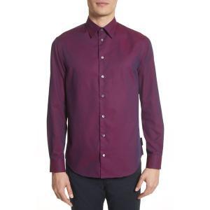 【当日出荷】 エンポリオアルマーニ メンズ Textured Dot Print Sport Shirt Fancy 【サイズ L】|astyshop