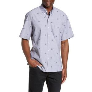 【当日出荷】 レインスプーナー メンズ Reyn Spooner Jacquard Tapa Short Sleeve Button-Down Sport Shirt Grey 【サイズ large】|astyshop