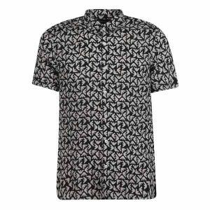 【当日出荷】 エンポリオ アルマーニ メンズ トップス Emporio Armani Eagle Print Shirt BlackWhite 【サイズ L】|astyshop